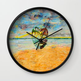 Looking Through the Mask Wall Clock