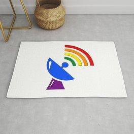 Rainbow Gaydar Gay Pride Flag Colors Rug