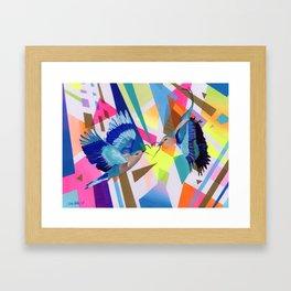 Geo Fly Birds Framed Art Print