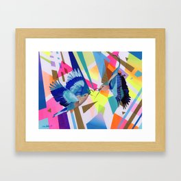 Geo Fly Birds Framed Art Print