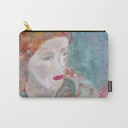 Woman in green Carry-All Pouch