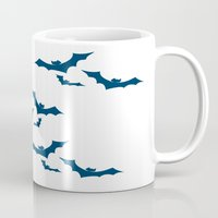 bats Mugs featuring Bats by Young Devious Minds