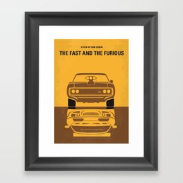 No207 My The Fast and the Furious minimal movie poster Framed Art Print