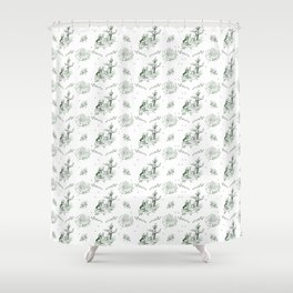 Slytherin Toile Shower Curtain