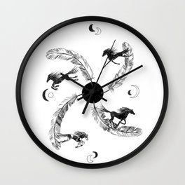 Four Winds Medicine Wheel Wall Clock