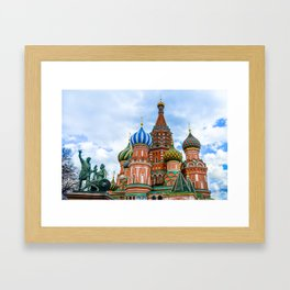 Saint Basil's Cathedral (Red Square in Moscow) Framed Art Print