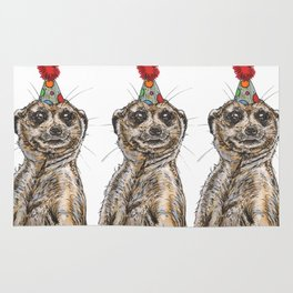 Meerkat Party Rug