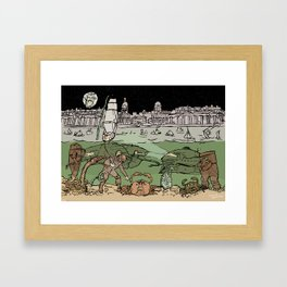 Subsaliens Go Down To Sea Framed Art Print