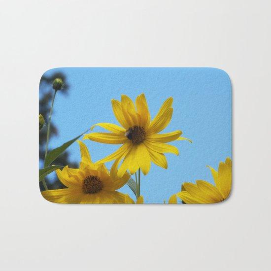 The Golden Sunflower Bath Mat