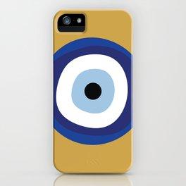 Good Luck Blue Eye - Charm iPhone Case