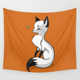 Fox and a Butterfly Wall Tapestry