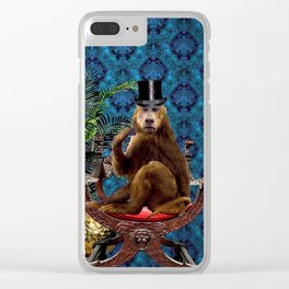 The Curiosity Shop Monkey Business Clear iPhone Case