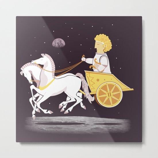 Apollo's Moon Landing Metal Print