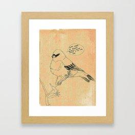 Classic Rock Bird Framed Art Print