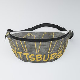 Pittsburgh Skyline on Steel Fanny Pack