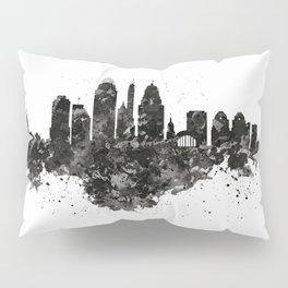 Cincinnati Skyline Black and White Pillow Sham
