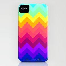 Rainbow Chevron Slim Case iPhone (4, 4s)