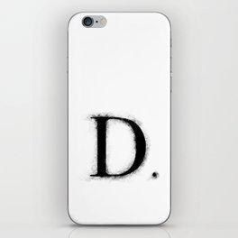 D. - Distressed Initial iPhone Skin