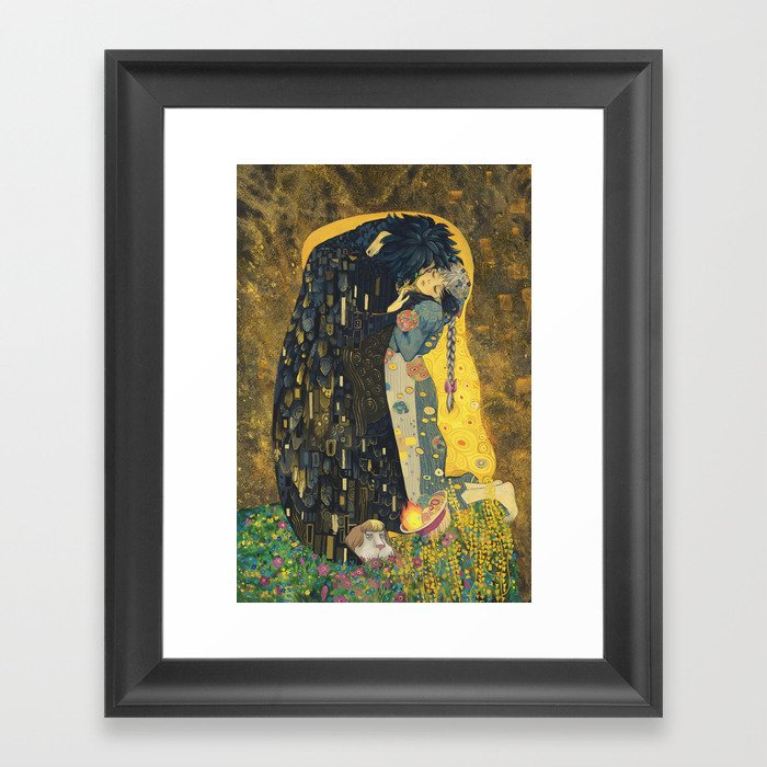 The Kiss -- Like Starlight Gerahmter Kunstdruck