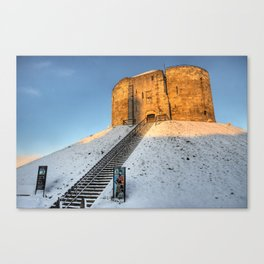 Cliffords Tower, York in the Snow Canvas Print