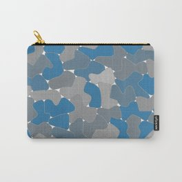 Blue Wall Etching Carry-All Pouch