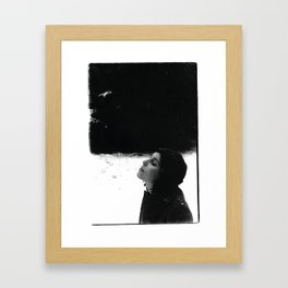 girl in the snow Framed Art Print