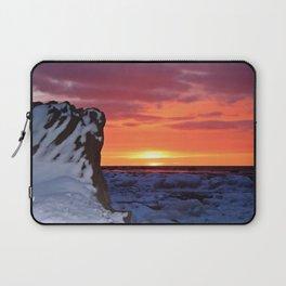 Golden Sunset on Sea and  Snow Laptop Sleeve