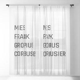 Modern Architecture (White) Sheer Curtain
