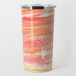 Vivid tangerine abstract watercolor Travel Mug