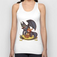how to train your dragon Tank Tops featuring How to Train your dragon! by SweetOwls