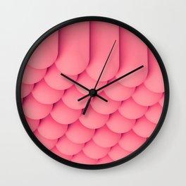 Pink Tubes Wall Clock