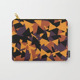 October Fall Season Pattern Halloween Mountain Triangle Carry-All Pouch