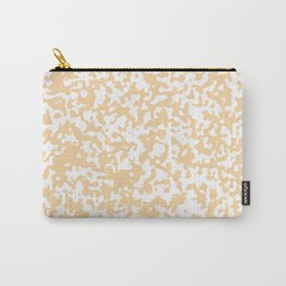 Small Spots - White and Sunset Orange Carry-All Pouch