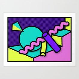 Trippy Shapes 1 Art Print