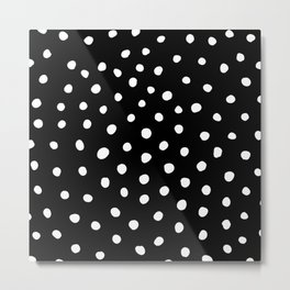 White Painted Dots Metal Print