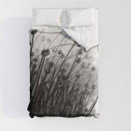 Black Lily Flowers Comforters