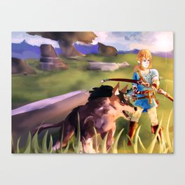 Link Breath of the Wild Canvas Print
