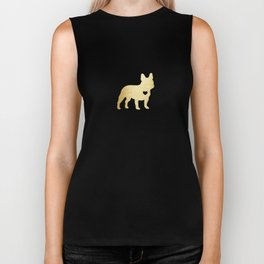 French Bulldog Gold Biker Tank