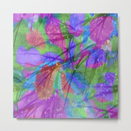 Colors in the Rain Metal Print