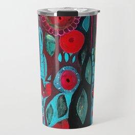 Flowers and owl Travel Mug