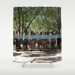 Line of People Shower Curtain