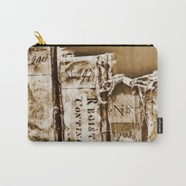 Faded Books Carry-All Pouch
