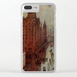 52. Cooper, Colin Campbell (1856-1937) - Appleton's Magazine 1903 - Broad Street, Philadelphia Clear iPhone Case