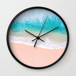 Ocean in Millennial Pink Wall Clock