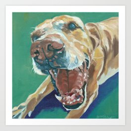 Yellow Labrador Dog Portrait Art Print