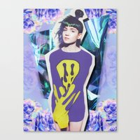 grimes Canvas Prints featuring grimes by DAYTR1PPER