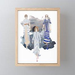 Fashionary - Blues Framed Mini Art Print