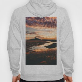 Reflective Water Landscape Cloudy Sky Sunlight After Rain Hoody