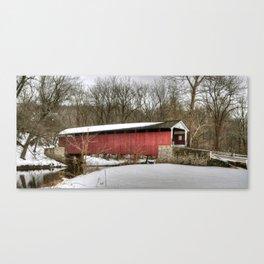 Mercer's Ford Covered Bridge Canvas Print