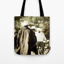 Trenchcoat Cowboy Tote Bag